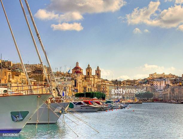 Big harbor of the city Valetta