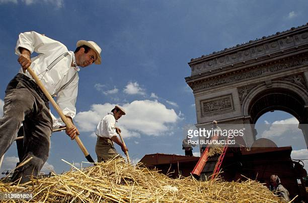 Big Harvest on the Champs Elysees In Paris France On June 24 1990The Grande Moisson on the Champs Elysees is he most elegant harvest tribute...