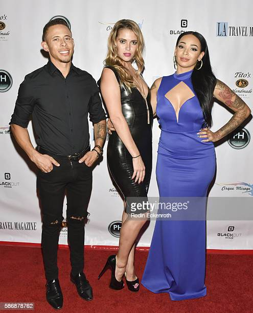 Big Heart Event Productions' Lawrence Charles model Chelsea Jeffers and hair stylist Brandi J Andrews attend Los Angeles Travel Magazine 2016 Endless...