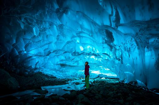 Big ice cave near Whistler, Canada. 917462796
