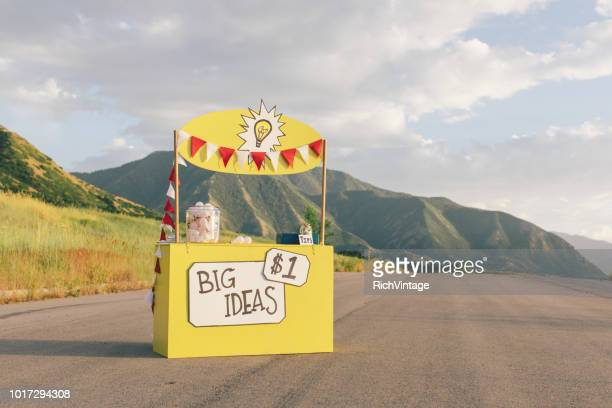 big ideas lemonade stand - kiosk stock pictures, royalty-free photos & images