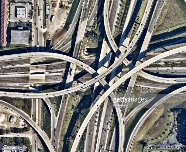 Big intersection on Maiami, Florida, USA