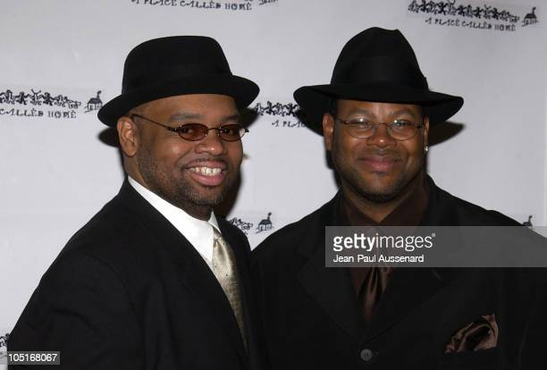 Big Jim Wright and Jimmy Jam during A Place Called Home 10th Anniversary Gala at Regent Beverly Wilshire in Beverly Hills California United States