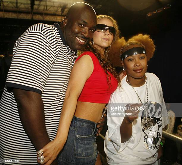 Big Joe Mariah Carey and Da Brat during HOT 97 Summer Jam 2006 at Giants Stadium in East Rutherford New Jersey United States