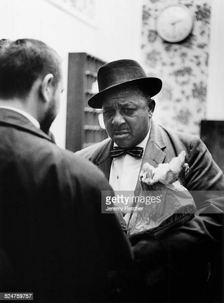Big Joe Williams arriving at Heathrow Airport London United Kingdom 1963