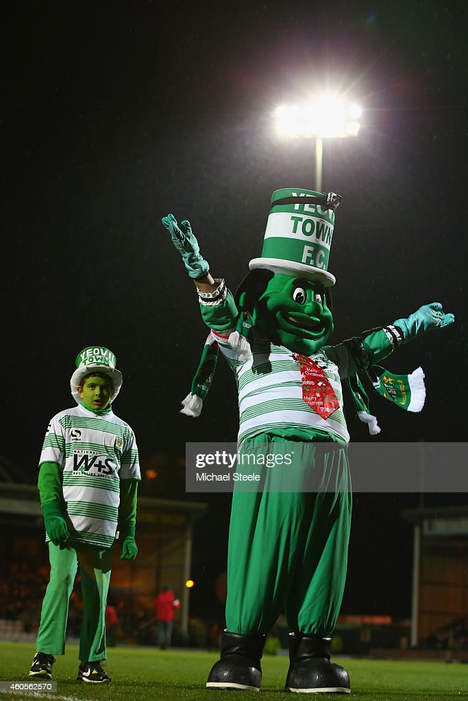 Big Jolly and Little Jolly the mascots of Yeovil during the FA Cup Second Round Replay match between Yeovil Town and Accrington Stanley at Huish Park on December 16, 2014 in Yeovil, England.