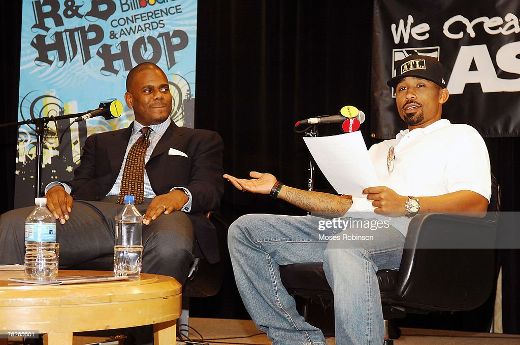 Big Jon Platt and Johnta Austin participates in the panel discussion on 'The Ear Behind the Music' during the Billboard R&B Hip-Hop Conference at the Renaissance Hotel on November 30, 2007 in Atlanta, Georgia.