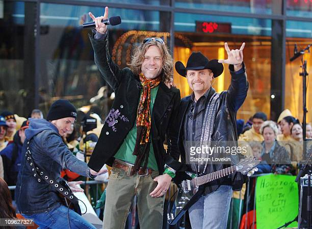 Big Kenny Alphin and John Rich of Big Rich during Big Rich Perform on NBC's The Today Show March 17 2006 at Rockefeller Plaza in New York City NY...