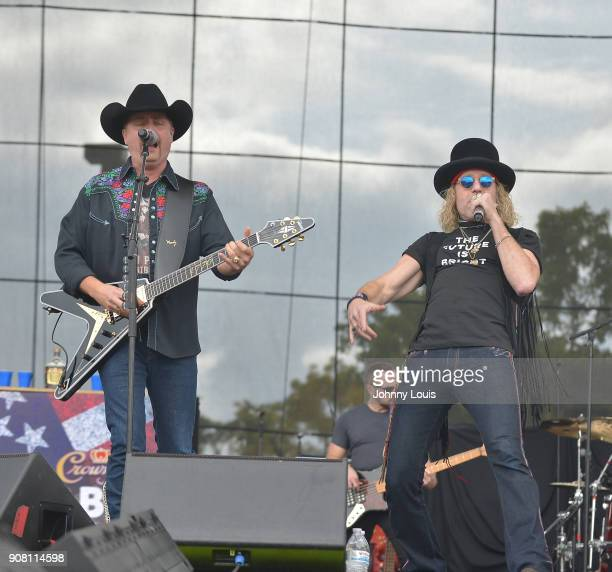 Big Kenny Alphin and John Rich of Big Rich perform onstage at the 33rd Annual Kiss 999 Chili Cookoff at CB Smith Park on January 20 2018 in Pembroke...