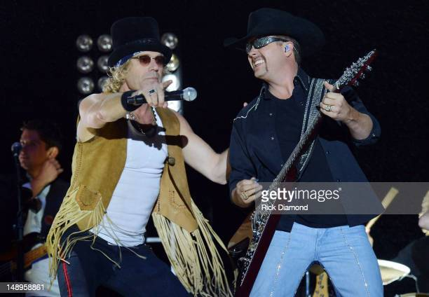 Big Kenny and John Rich of Big and Rich perform at Country Thunder Day 1 on July 19 2012 in Twin Lakes Wisconsin