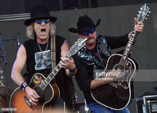 Big Kenny and John Rich of Big and Rich perform during Happy Valley Jam 2017 in Beaver Stadium on the campus of Penn State University July 8 2017 in...