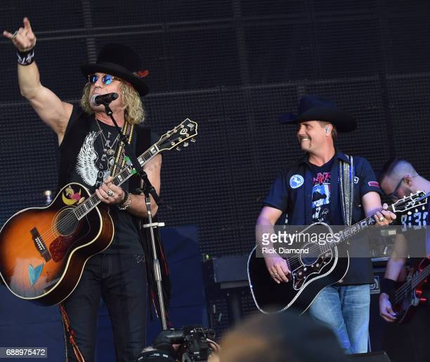 Big Kenny and John Rich of Big and Rich perform during Tree Town Music Festival Day 2 on May 26 2017 in Heritage Park Forest City Iowa