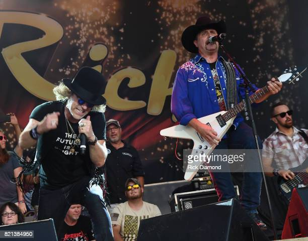 Big Kenny and John Rich of Big and Rich performs during Country Thunder Day 4 on July 23 2017 in Twin Lakes Wisconsin