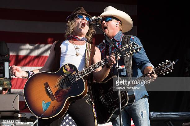 Big Kenny and John Rich of Big Rich perform during the 4th Annual Windy City Smokeout BBQ and Country Music Festival on July 16 2016 in Chicago...