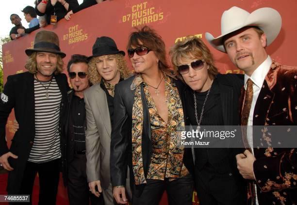 Big Kenny and John Rich of Big & Rich with Tico Torres, David Bryan, Richie Sambora and Jon Bon Jovi of Bon Jovi at the The Curb Event Center at...