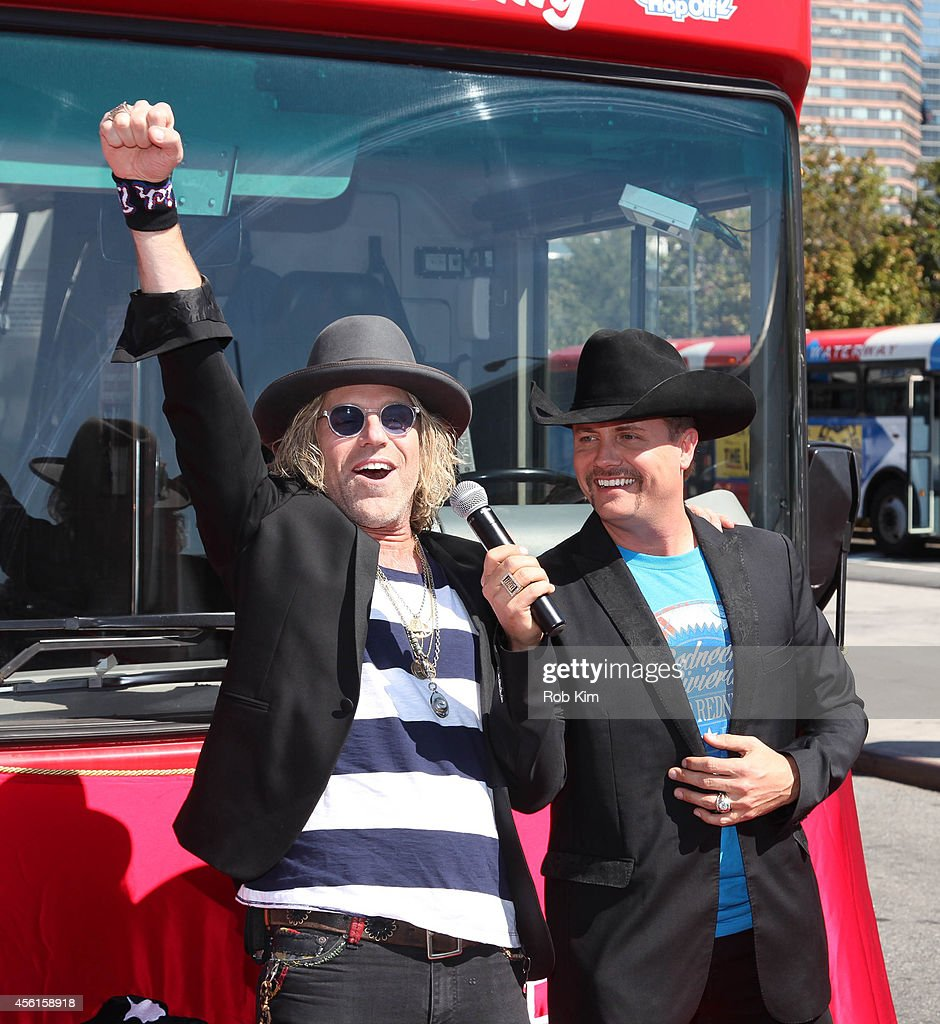 Big Kenny (L) and John Rich of country music duo Big & Rich attend the Big & Rich 'Ride Of Fame' Induction Ceremony at Pier 78 on September 26, 2014 in New York City.