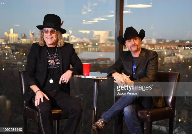 Big Kenny and John Rich of the band Big Rich are seen at Mount Richmore on January 05 2019 in Nashville Tennessee