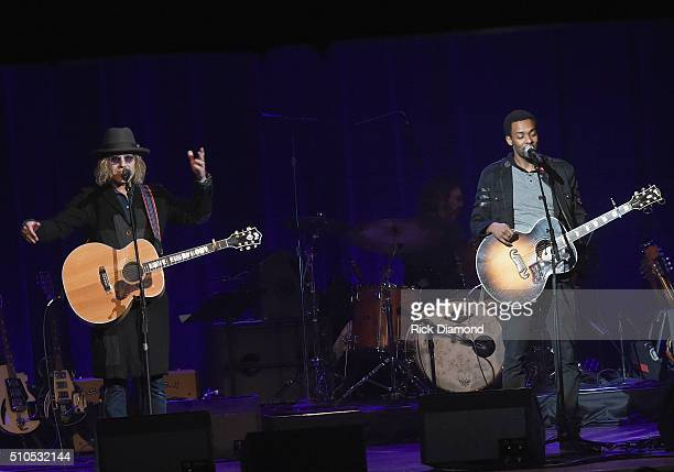 Big Kenny and Singer/Songwriter Damien Horne perform during Nashville for Africa a benefit for the African Children's Choir at the Ryman Auditorium...