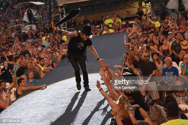 Big Kenny of Big and Rich performs during Country Thunder Day 4 on July 23 2017 in Twin Lakes Wisconsin