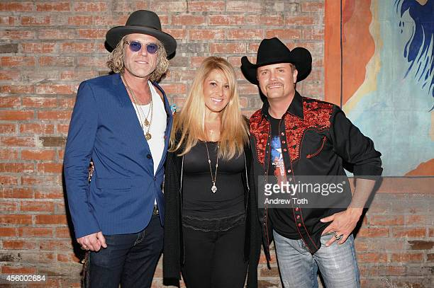Big Kenny singersongwriter Lisa Matassa and John Rich attend the Big Rich Gravity album launch party at Brooklyn Bowl on September 23 2014 in New...