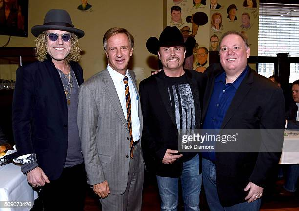 Big Kenny Tennessee Gov Bill Haslam John Rich and owner of Webster PR Kirt Webster attend the 2nd Annual Legendary Lunch presented by Webster Public...