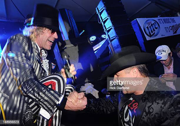 Big Kenny thanks John Rich for coming out in support of the World Premier of Big Kenny's Electro Country Shine at Country Thunder Day 1 on July 19...