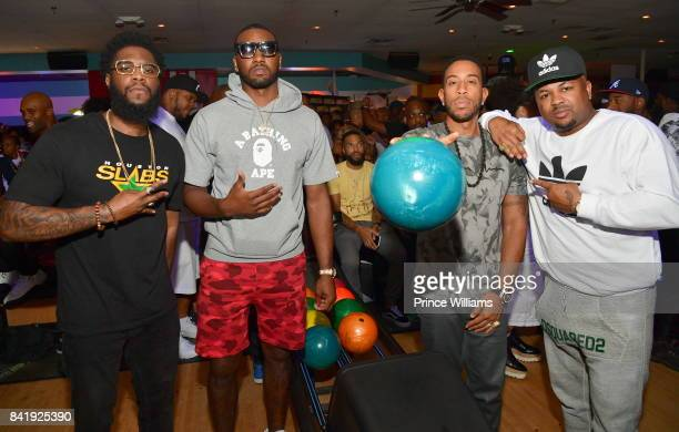 Big Krit John Wall Ludacris and The Dream attend the 2017 Ludaday Weekend Celebrity Bowling Tournament at Bowlmor lanes on September 1 2017 in...
