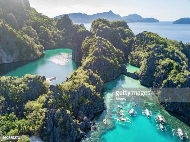 big lagoon palawan miniloc island el nido philippines - el nido stock pictures, royalty-free photos & images