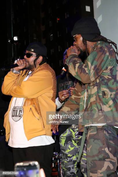 Big Leto and Mr Cheeks perform at the 13 Sins Album Release Party at SOB's on December 19 2017 in New York City