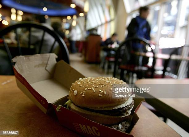 Big Mac sits at a table at McDonalds February 8 2006 in New York City A new US government study on nutrition has found that contrary to popular...