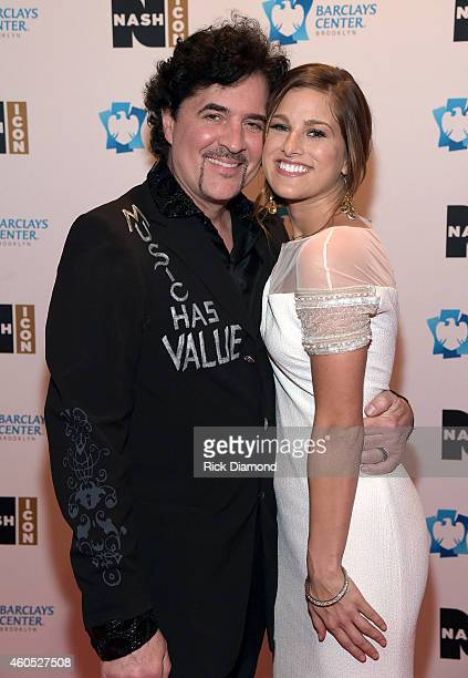 Big Machine Label Group President CEO Scott Borchetta and Cassadee Pope attend the Inaugural Nash Icon ACC Awards postshow party honoring Reba as the...