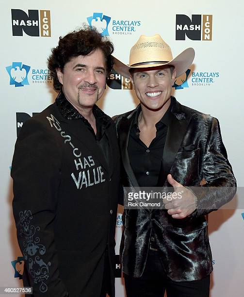 Big Machine Label Group President CEO Scott Borchetta and Dustin Lynch attend the Inaugural Nash Icon ACC Awards postshow party honoring Reba as the...
