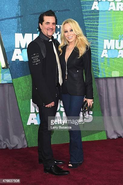Big Machine Label Group President CEO Scott Borchetta and Sandi Spika Borchetta attends the 2015 CMT Music awards at the Bridgestone Arena on June 10...