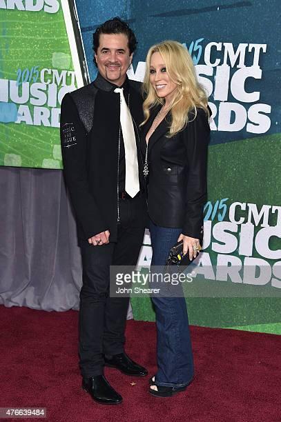 Big Machine Label Group President CEO Scott Borchetta and Sandi Spika Borchetta attend the 2015 CMT Music awards at the Bridgestone Arena on June 10...