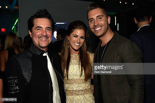 Big Machine Label Group's Scott Borchetta Cassadee Pope and Nick Fradiani attend the 2015 CMT Music Awards After Party at the Hutton Hotel on June 10...