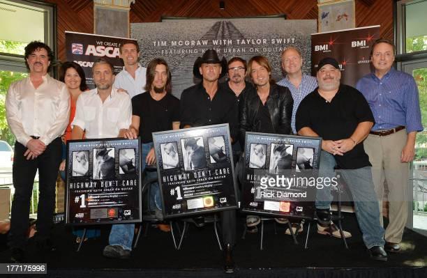 Big Machine's Scott Borchetta Big Yellow Dog Music's Carla Wallace cowriter Brett Warren ASCAP's Ryan Beuschel cowriter Brad Warren Tim McGraw...