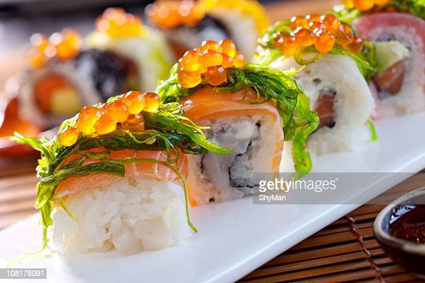big maki sushi - maki sushi stock pictures, royalty-free photos & images