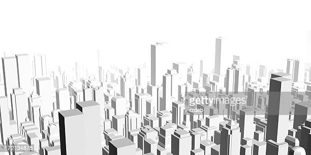 Big Modern City metropolis - rendering