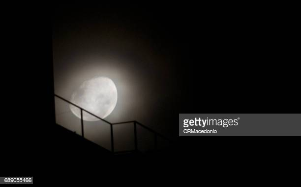 big moon - crmacedonio stock photos and pictures