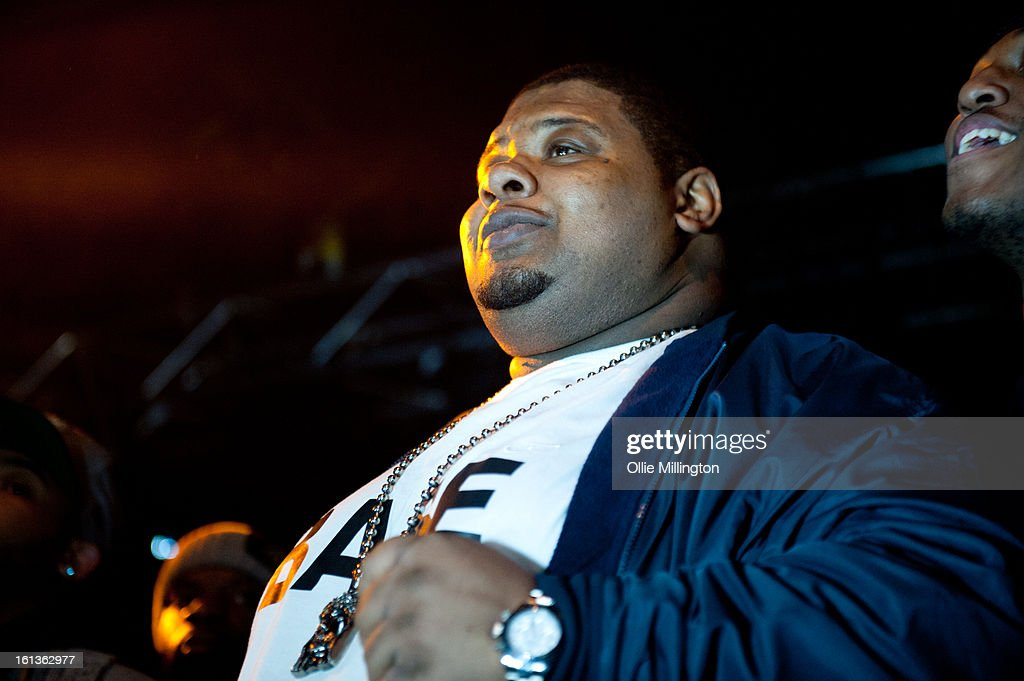 Big Narstie performs on stage at 'The Eskimo Dance' at 02 Academy on February 9, 2013 in Leicester, England.