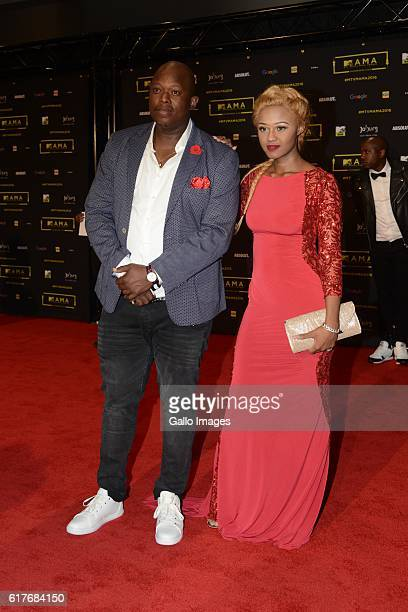 Big Nuz's Mampintsha and Babes Wodumo during the 2016 MTV Africa Music Awards at the Ticketpro Dome on October 22 2016 in Johannesburg South Africa...