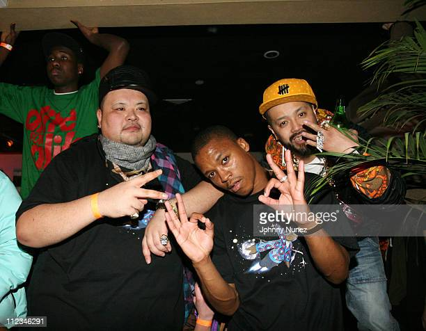 Big O of Swagger Lupe Fiasco and Iggy of Swagger during Swagger Tokyo US Launch with Live Performances by Kanye West and Lupe Fiasco March 15 2007 at...