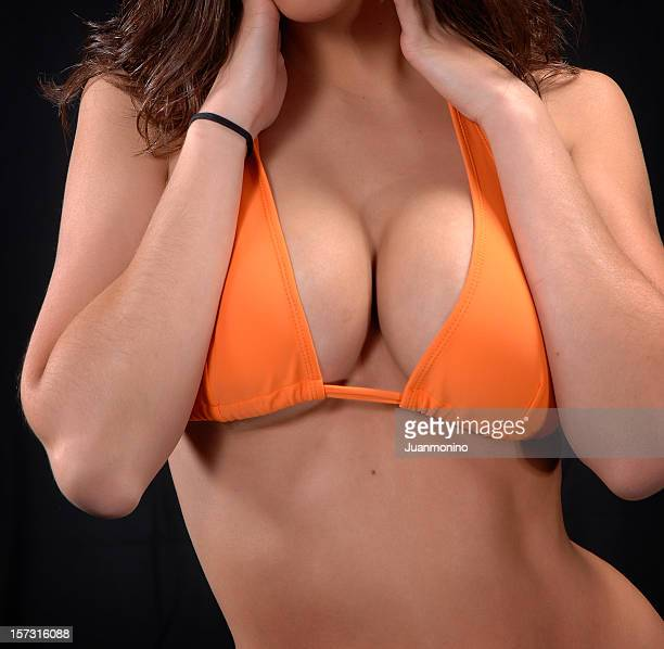big ones - big cleavage stock photos and pictures