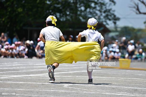 Big pants race on Sports day