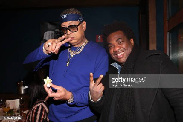 Big Percy and DJ Reach attend the Barry Mullineaux Birthday Celebration at Pomona on January 9, 2019 in New York City.