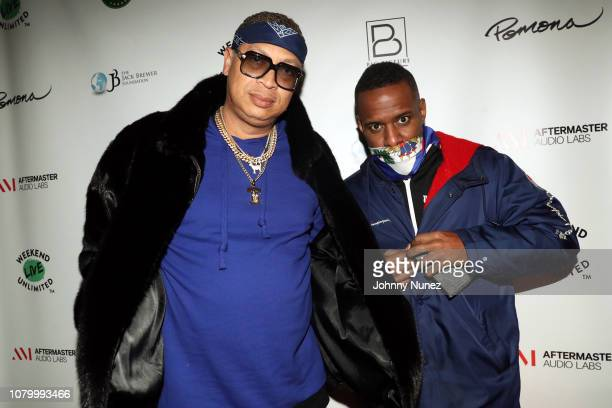 Big Percy and DJ Whoo Kid attend the Barry Mullineaux Birthday Celebration at Pomona on January 9, 2019 in New York City.