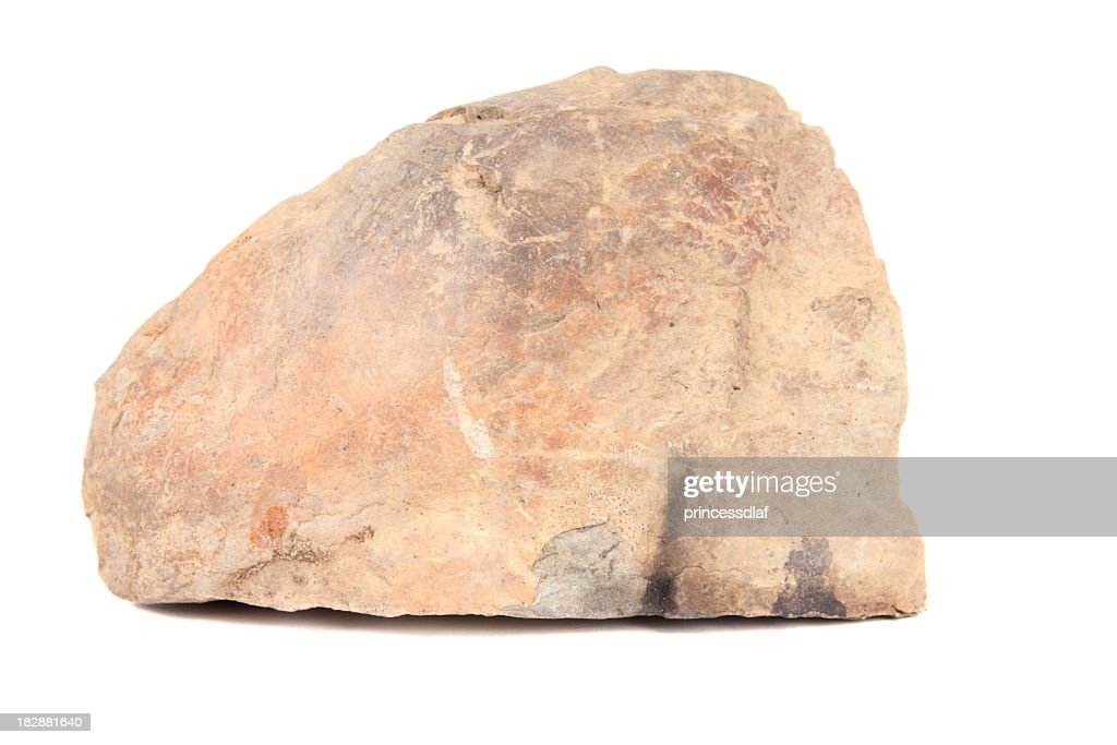 Big piece of coarse rock with scratches and patterns : Stock Photo