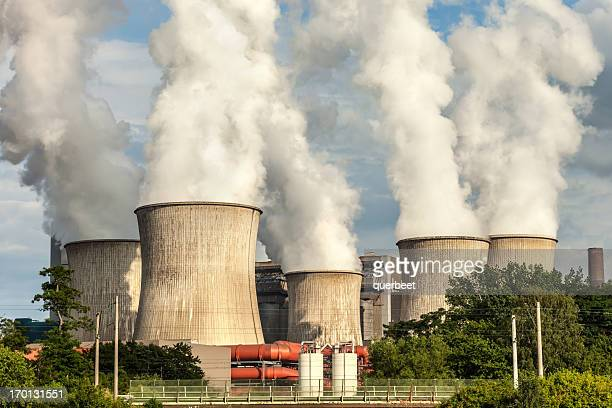 big power plant - carbon dioxide stock pictures, royalty-free photos & images
