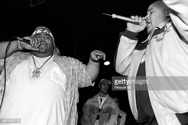 Big Pun and Fat Joe performing at Les Poulets on May 13 1998This imageBig Pun left and Fat Joe