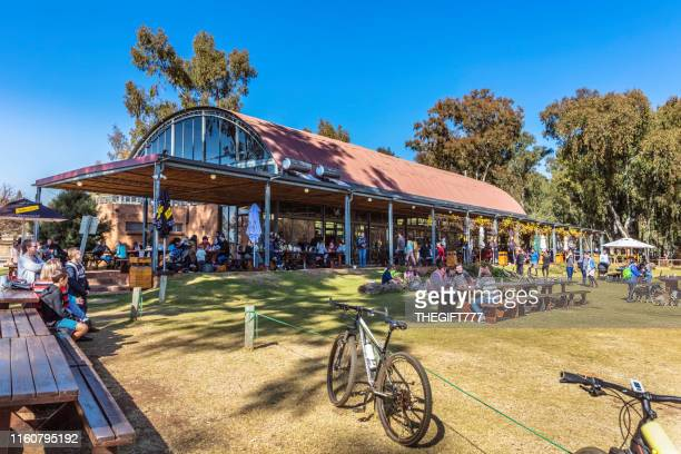 big red barn restaurant at irene market, pretoria - gauteng province stock pictures, royalty-free photos & images